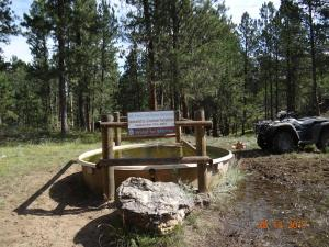 422 Dedication sign on tank